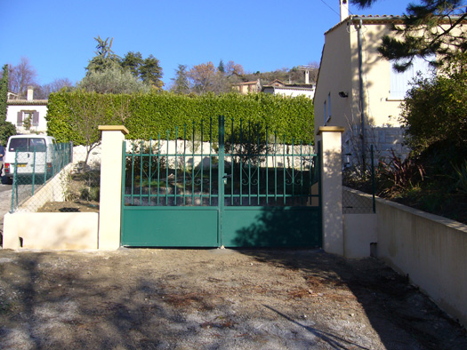 Pose de portail
