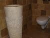 vasque sur pied en marbre beige